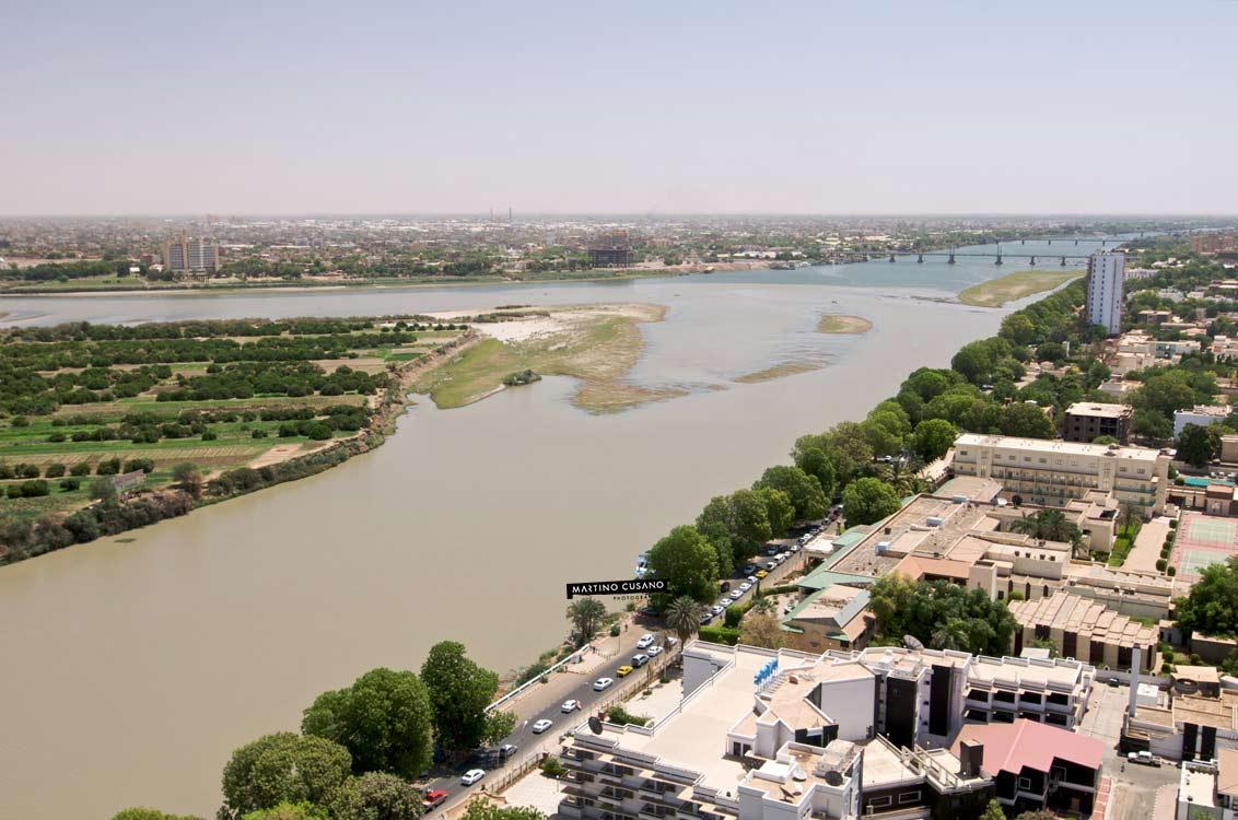 Khartoum, dove il nilo azzurro incontra il nili giallo e diventano un solo corso