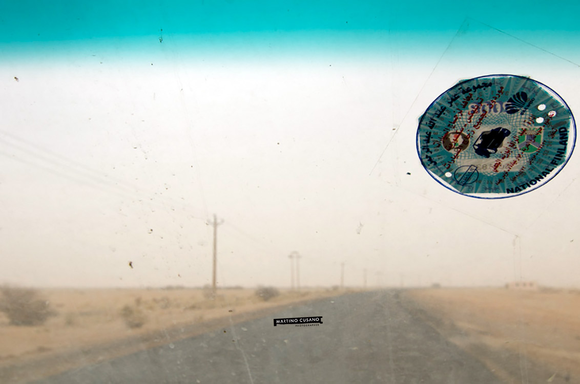 dall'auto entrando a  khartoum